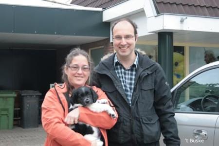 Bianca en Fokke met Rinus (Leafke Rambo)  Hij gaat naar Wognum in Noord Holland