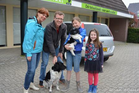 Loeke blijft in Duiven wonen bij Annemieke en Tim en hun twee meiden.